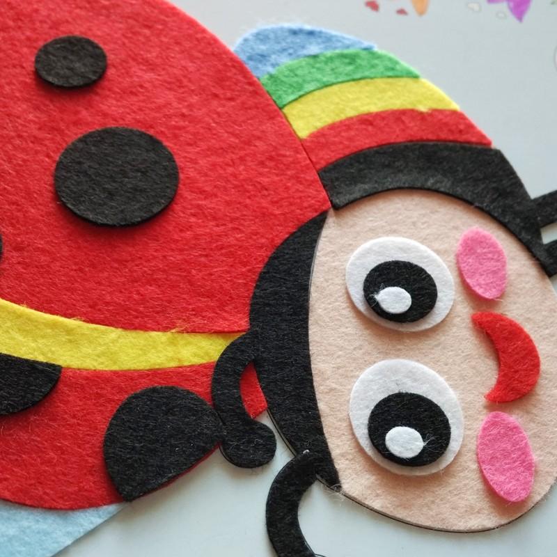 金艺福儿童益智玩具布贴画 涂鸦布贴画 diy手工制作 装饰画材料亲子