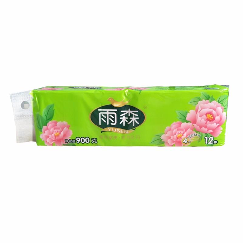 012007雨森富贵牡丹12卷卫生纸ys0360-3原生木浆卫生纸卷筒纸 母婴